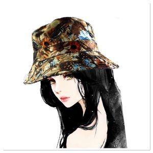🆕Vintage Brown Flowers Bucket Hat